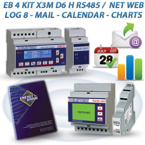 PFA5613-94  EB 4 KIT X3M D6 H RS485 / NET 2DI 2DO WEB LOG 8 MAIL CALENDAR CHARTS