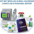 PKA0053-00  KIT NET WEB LOG 8 MAIL CALENDAR CHARTS EB 8 PERSONAL REPORT
