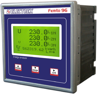 PFA6C11-12  FEMTO 96 RS485 230-240V 1DI 2DO ENERGY ANALYZER