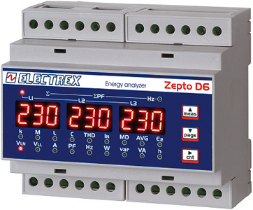 PFA8611-02  ZEPTO D6 RS485 230-240V MULTIMETER / ENERGY ANALYZER